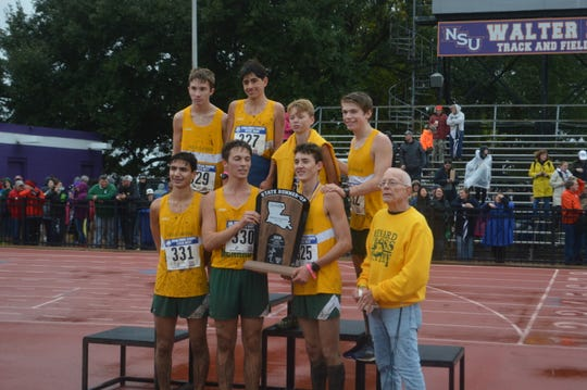 The Menard Eagles are the 2018 Class 2A boys cross country runners-up.