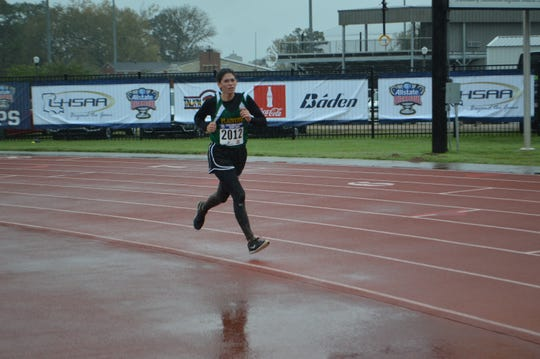 Plainview's Allie Willis finished fourth in the LHSAA Class C girls cross country race Monday in Natchitoches.