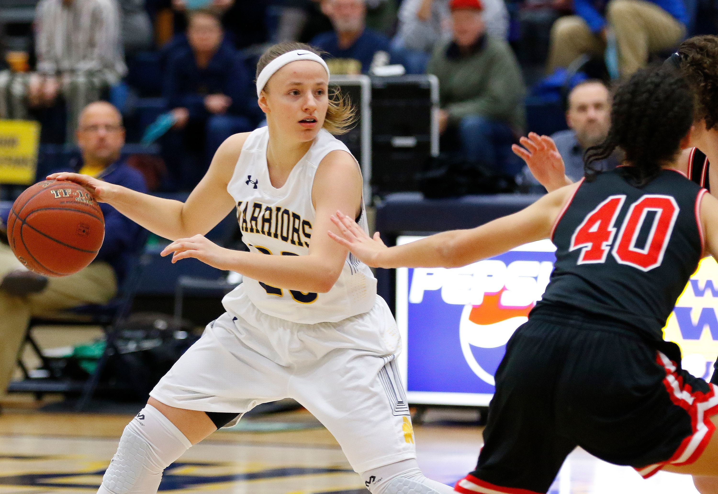 Wausau West senior Maddie Schires, left, has committed to Youngstown State.