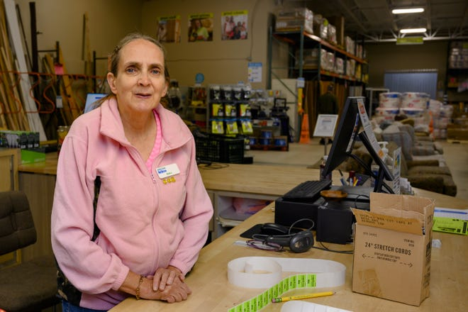 Menasha's Barb Jahnke has been volunteering at the Habitat Restore since it opened in 2005.