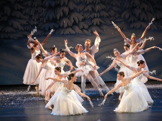 "An ethereal scene from ""The Nutcracker,"" by Performing Arts Ensemble."