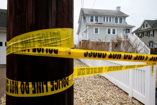 Crime scene surrounds a Barnegat Lane home in Mantoloking Tuesday, November 13, 2018, where there was a police involved shooting the previous day where an Ocean County Sheriff's Department dog was injured.