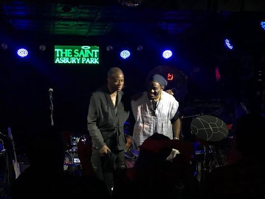 David Sancious and Will Calhoun at the Saint in Asbury Park on Monday, Nov. 12.