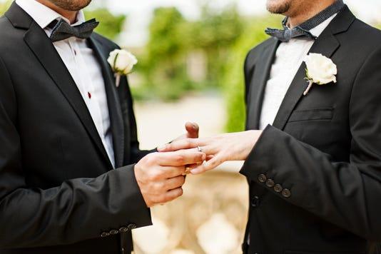 Homosexual Couple Wedding Ceremon