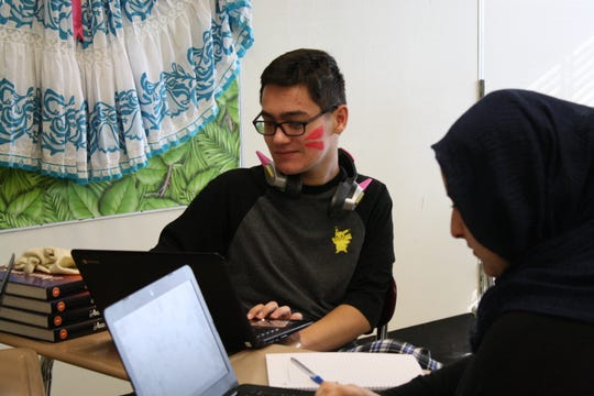 Johnson City High School junior Alex Novak, 16, of Johnson City, said working with Colombian students has helped him realize that he takes technology for granted.