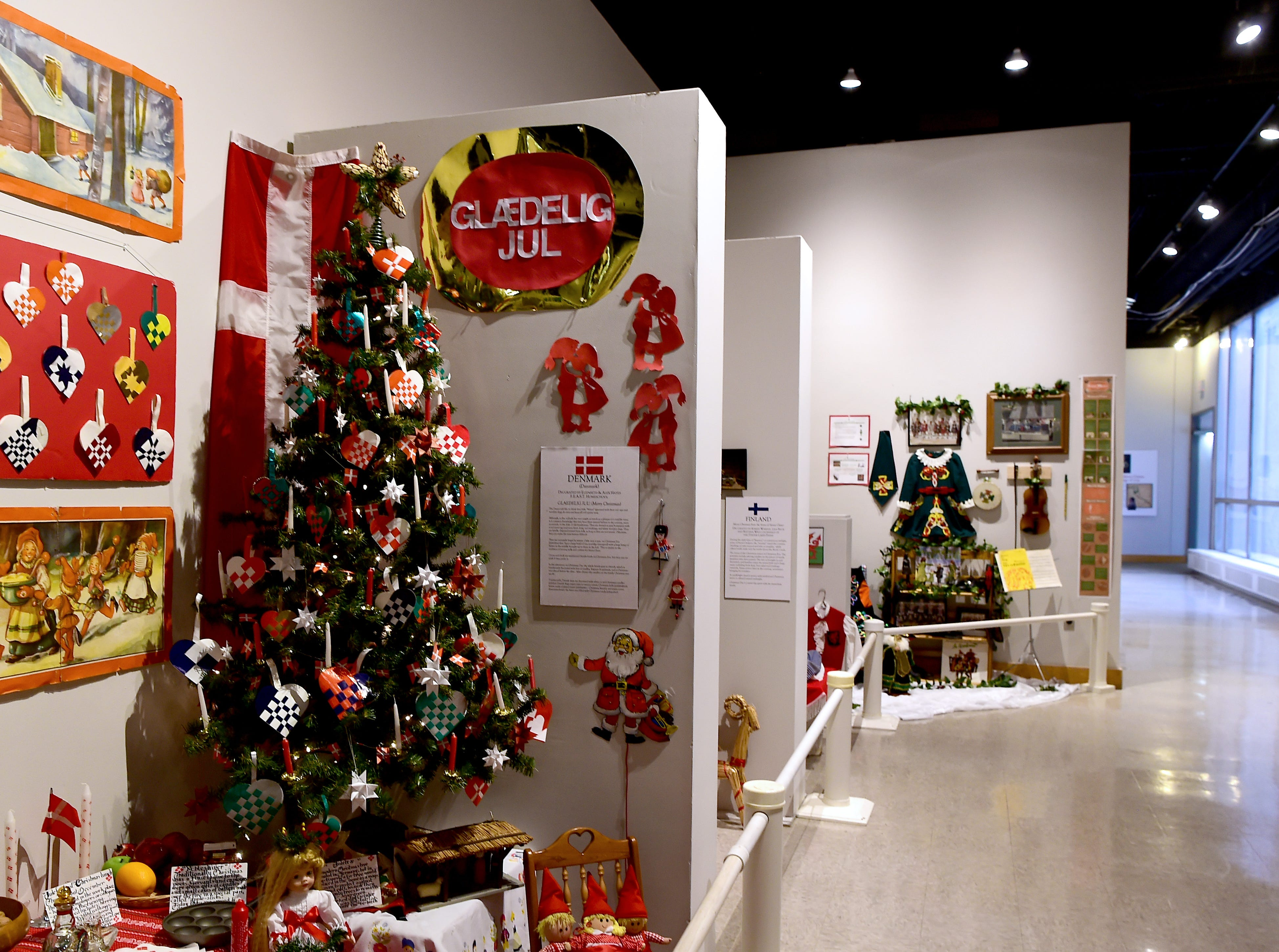 Roberson Museum and Science Center's annual Home for the Holidays event opens on November 14 and continues through January 6. The event features hundreds of elaborately decorated holiday trees and displays. November 12, 2018.