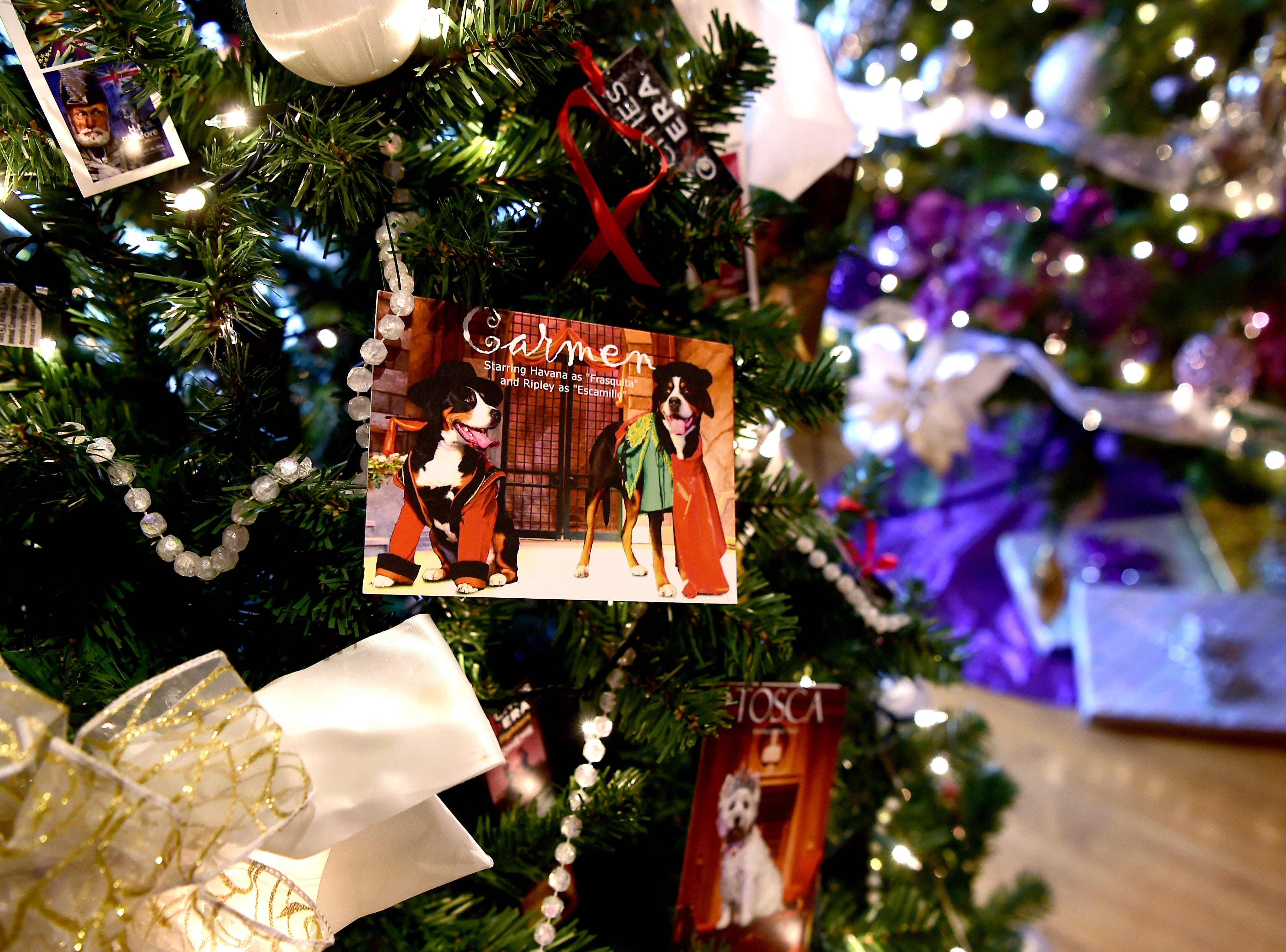 Tri Cities Opera tree. Roberson Museum and Science Center's annual Home for the Holidays event opens on November 14 and continues through January 6. The event features hundreds of elaborately decorated holiday trees and displays. November 12, 2018.