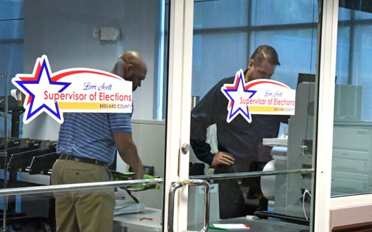 The machine ballot recount started Tuesday morning at the Brevard County Supervisor of Elections office in Viera.