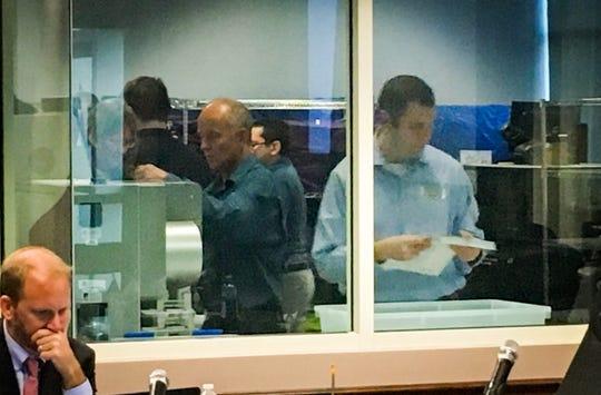 Machine accuracy testing started at 9:06 a.m. Tuesdayin Viera.