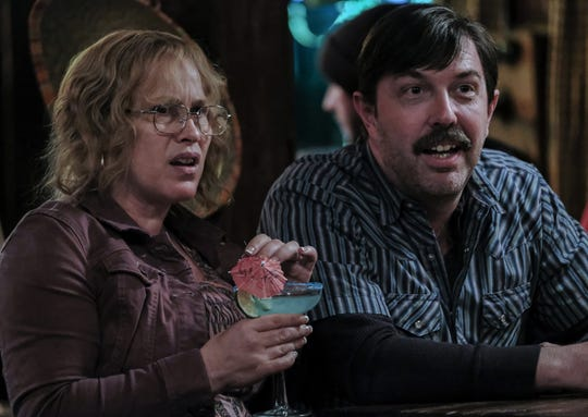 "Patricia Arquette and Eric Lange portray Tilly and Lyle Mitchell in the Showtime series ""Escape at Dannemora."""