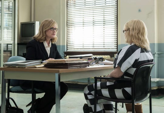 "Bonnie Hunt and Patricia Arquette in a scene from ""Escape from Dannemora."""