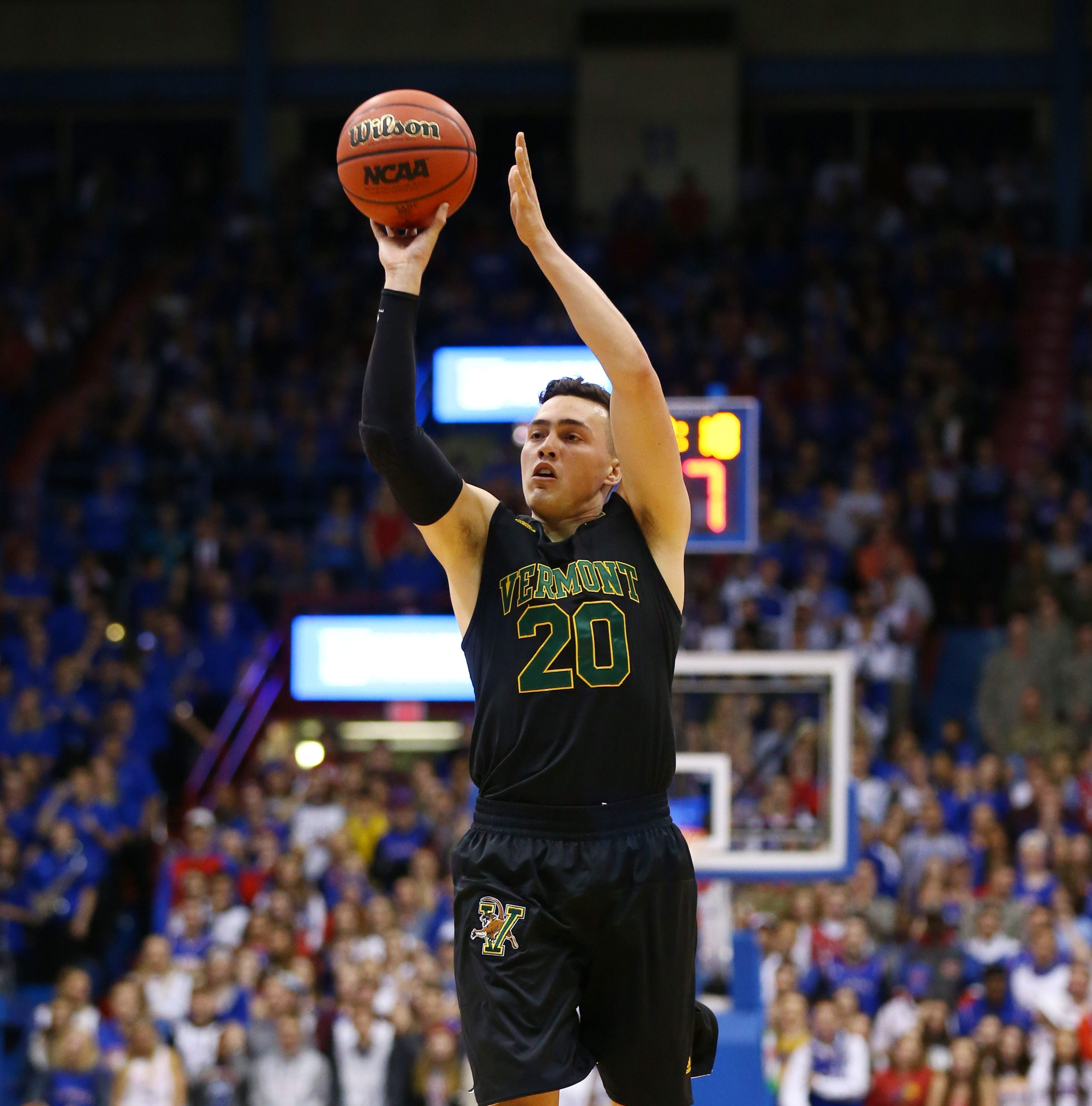 UVM men's basketball: Vick, No. 2 Jayhawks too much for Catamounts