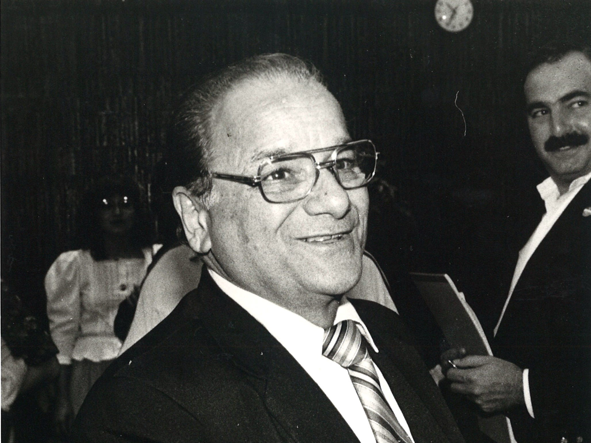 Joe Salem in 1982 while campaigning for the 27th Congressional District.