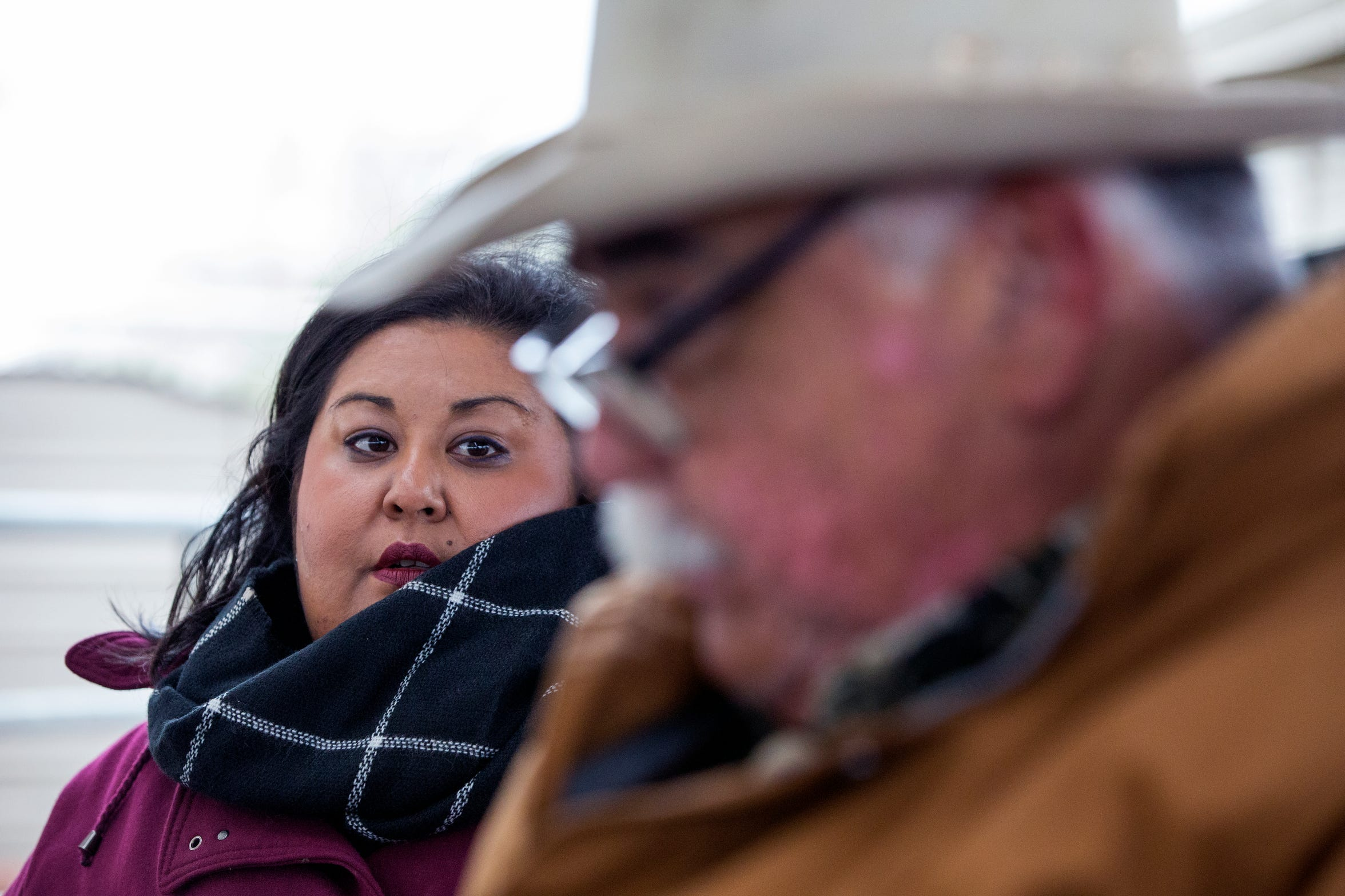 Della Serna (left) and her father, Felix Serna, sort cattle to be sold at auction at the El Coyote Ranch on Tuesday, November 13, 2018. Della began following her father around the ranch when she was about five and began working at the ranch when she was 12. Now, Della plays a major role in the ranch's large cattle and pure-bred operations, maintainingÊrecords, dealing with genetics, keeping up with USDA regulations, managing proceduralÊschedules for livestock, halter breaking and showingÊanimals, whileÊmarketing the ranch's prized cattleÊto prospective buyers.