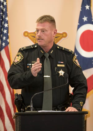 Pike County Sheriff Charlie Reader talks about how the four members of the Wagner family were apprehended at a press conference in Waverly, Ohio, on Tuesday, November 13, 2018.