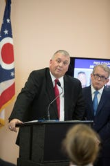 Prosecutor Rob Junk of Pike County, Ohio, answered questions Nov. 13, 2018, in Waverly, Ohio, on the next steps in the process of prosecuting the Wagner family.