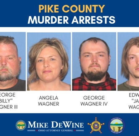 Four members of Wagner family arrested in connection with Rhoden murders in Pike County