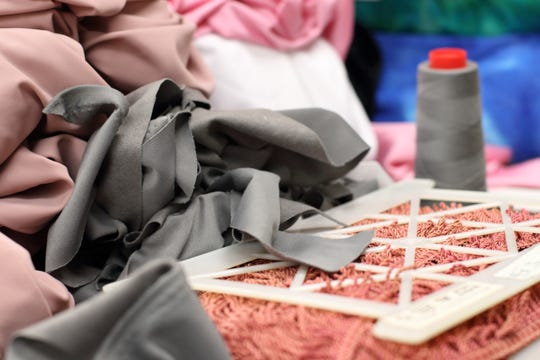 """Material used to make Fiona's costume for """"The Nutcracker"""""""