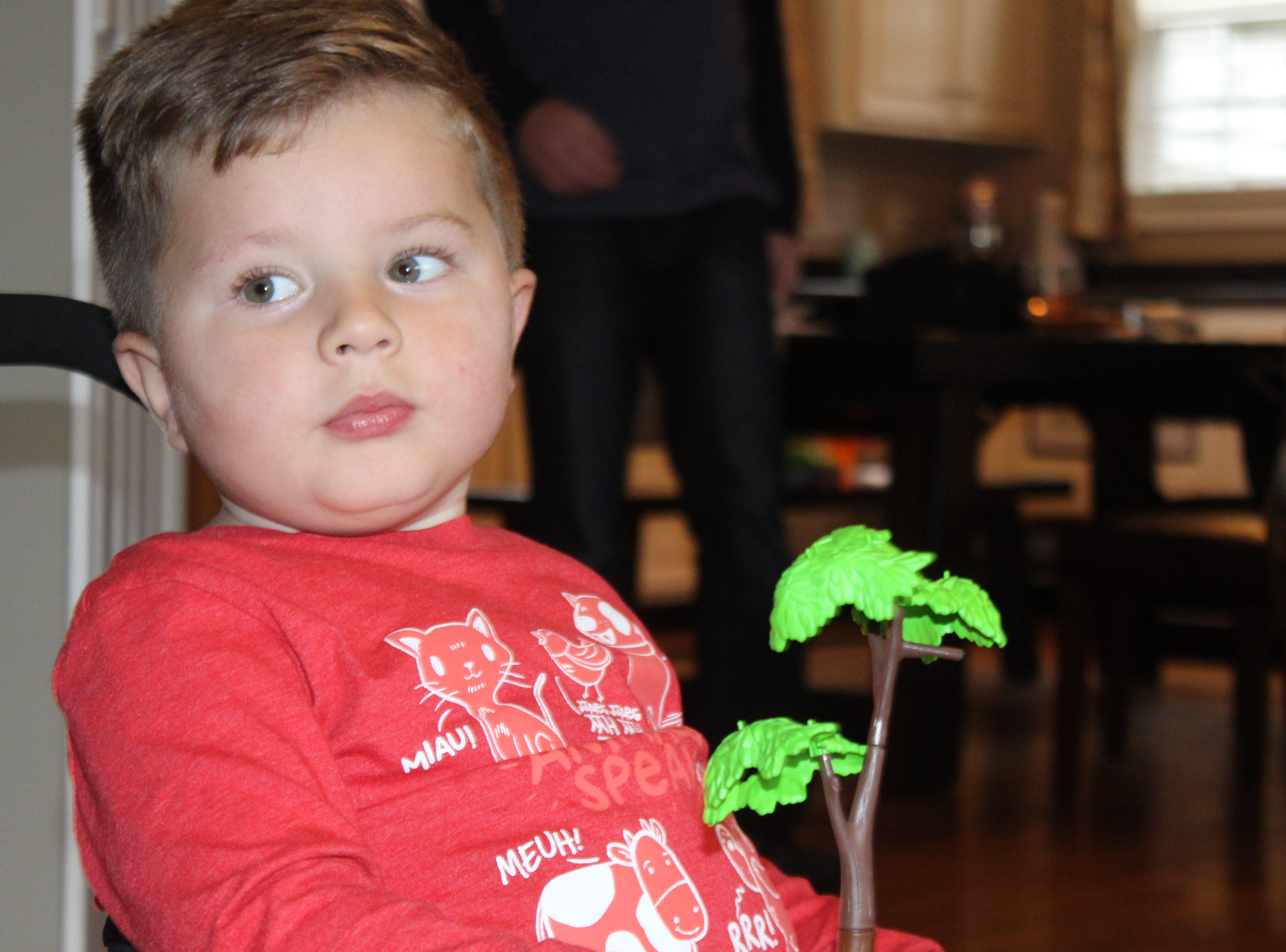 Oliver Schaper, who is receiving a first-of-its-kind treatment for spinal muscular atrophy.