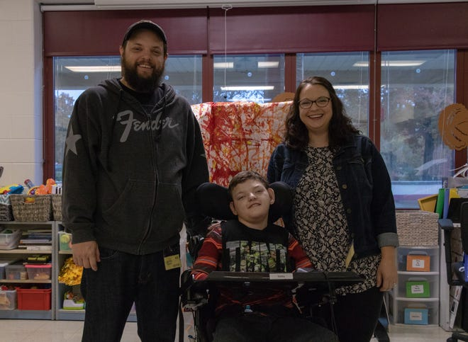 Nine-year-old, Sebastian Washuta, would love a specialized car seat to help him go on family visits or special trip outings.
