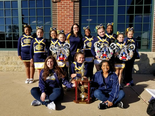 The East Brunswick/Spotswood Golden Bear Chargers Pee Wee cheerleaders were named National Champions on Dec. 7 taking first place at Nationals held at Walt Disney World's ESPN Wide World of Sports in Orlando, Florida. The GBC Pee Wee Small team represented Eastern Region Pop Warner at the competition.