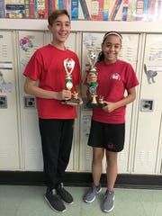 Congratulations to eighth grade students from St. Francis Cathedral School, Metuchen who were winners in the annual Metuchen Elks #1914 Soccer Shoot Out. Angelina Vargas (right) won first place and Alejandro Ruiz (left) won third place. SFCS educates children from Pre-K to eighth grade.