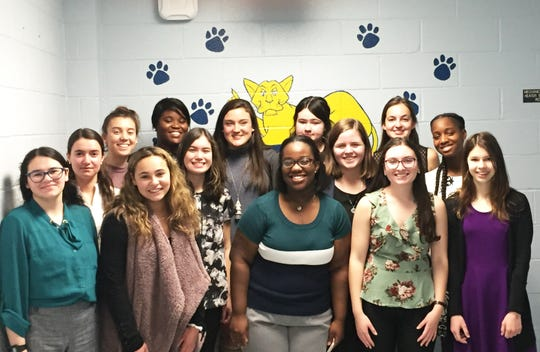 Pictured, left to right are: (front) Francesca Fazio, Ariana Salerno, Christina Appiah, Caroline DiGrande, and Grace O'Neil; (middle) Pilar Paradiso, Christina Tillinghast, Grace Schleck and Rachel Mack; and (back) Melanie Valliciergo, Grace Hogan, Emily Abbott and Ashleigh Cotter.