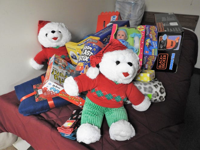 A Tribune file photo of some toys collected in a past year to benefit the Coshocton County Firefighters Toy Chest. Donations of toys and money are to be in by Dec. 15. Toys can be dropped off the Coshocton or Walhonding Valley fire departments.