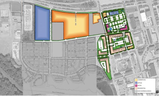 The Gray's Landing master plan includes another hotel, two market-rate apartment projects and an office building.