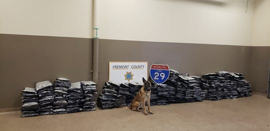 Drugs seized Friday, Nov. 9, 2018, during a traffic stop in Fremont County, Iowa.