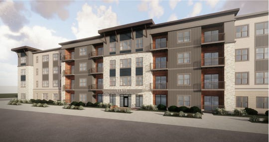 The Slate, a 125-unit senior housing project at the corner of Southwest 11th and Tuttle streets, is the first market-rate housing project for people aged 55 and older in downtown Des Moines.