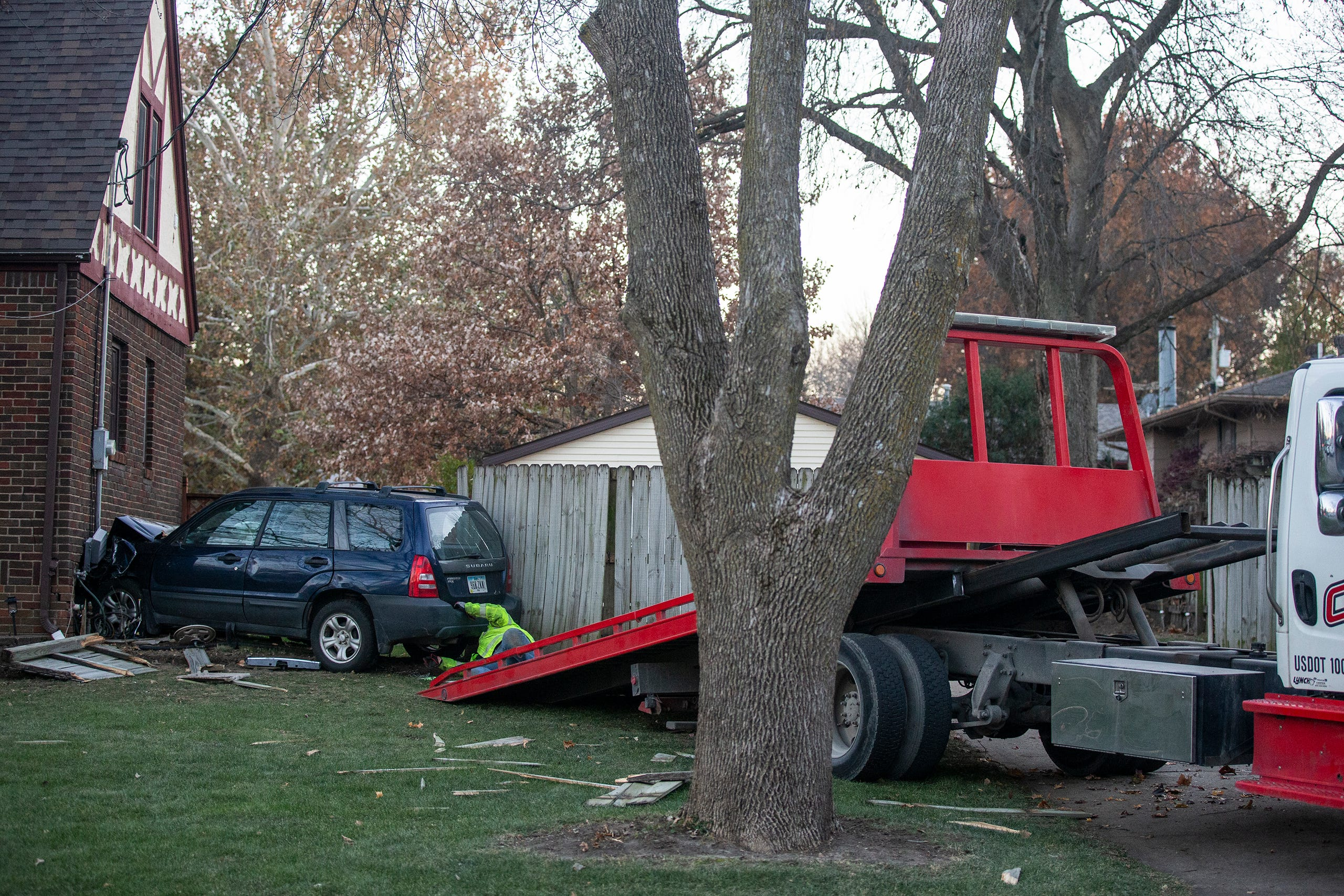 Photos: Car crashes into a Des Moines home