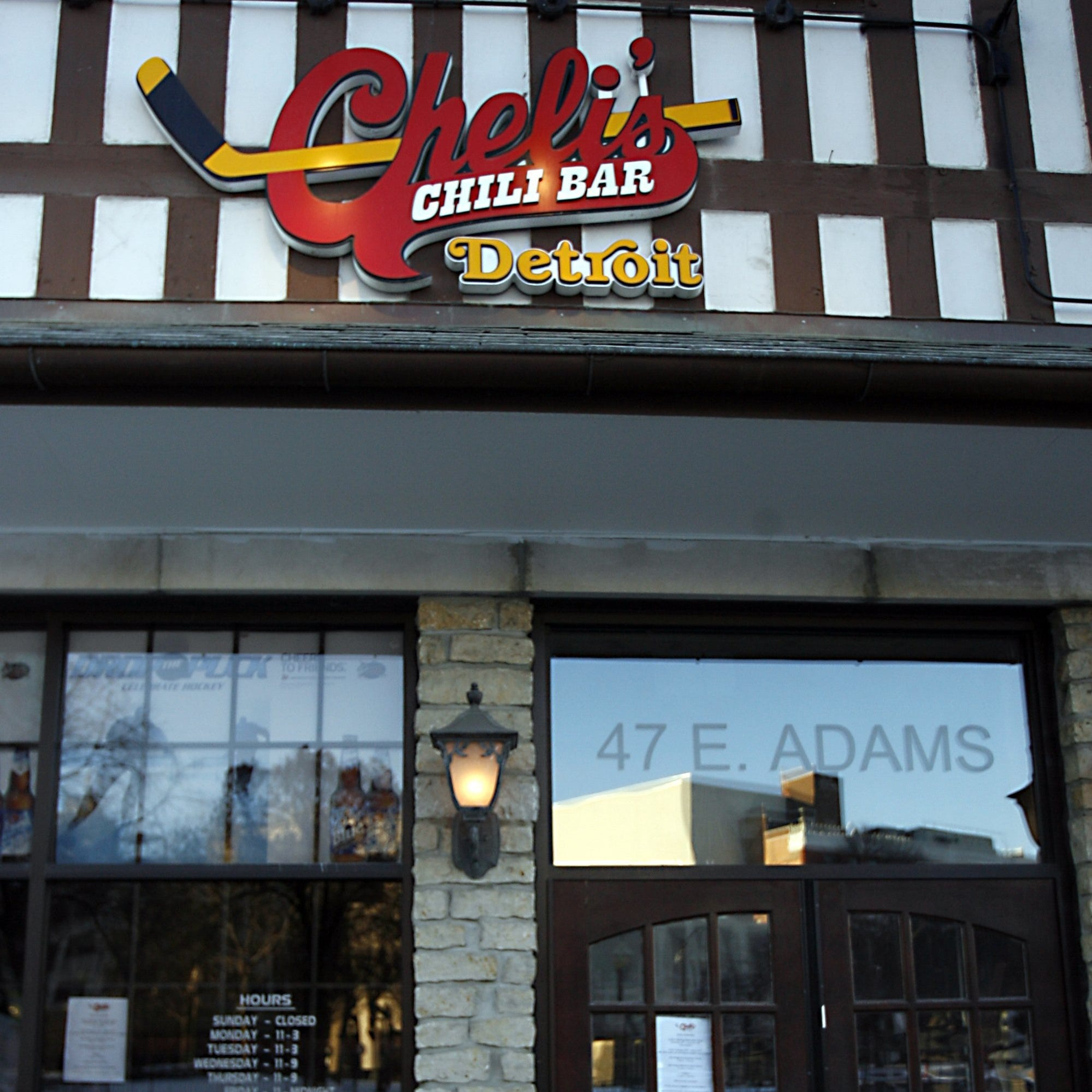 Cheli's Chili at 47 E. Adams in Detroit.