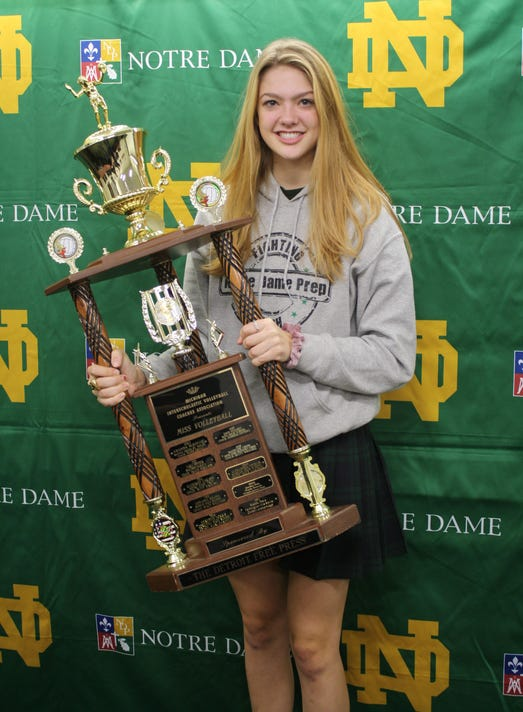 Notre Dame Prep's Madeline Chinn wins 2018 Michigan Miss Volleyball