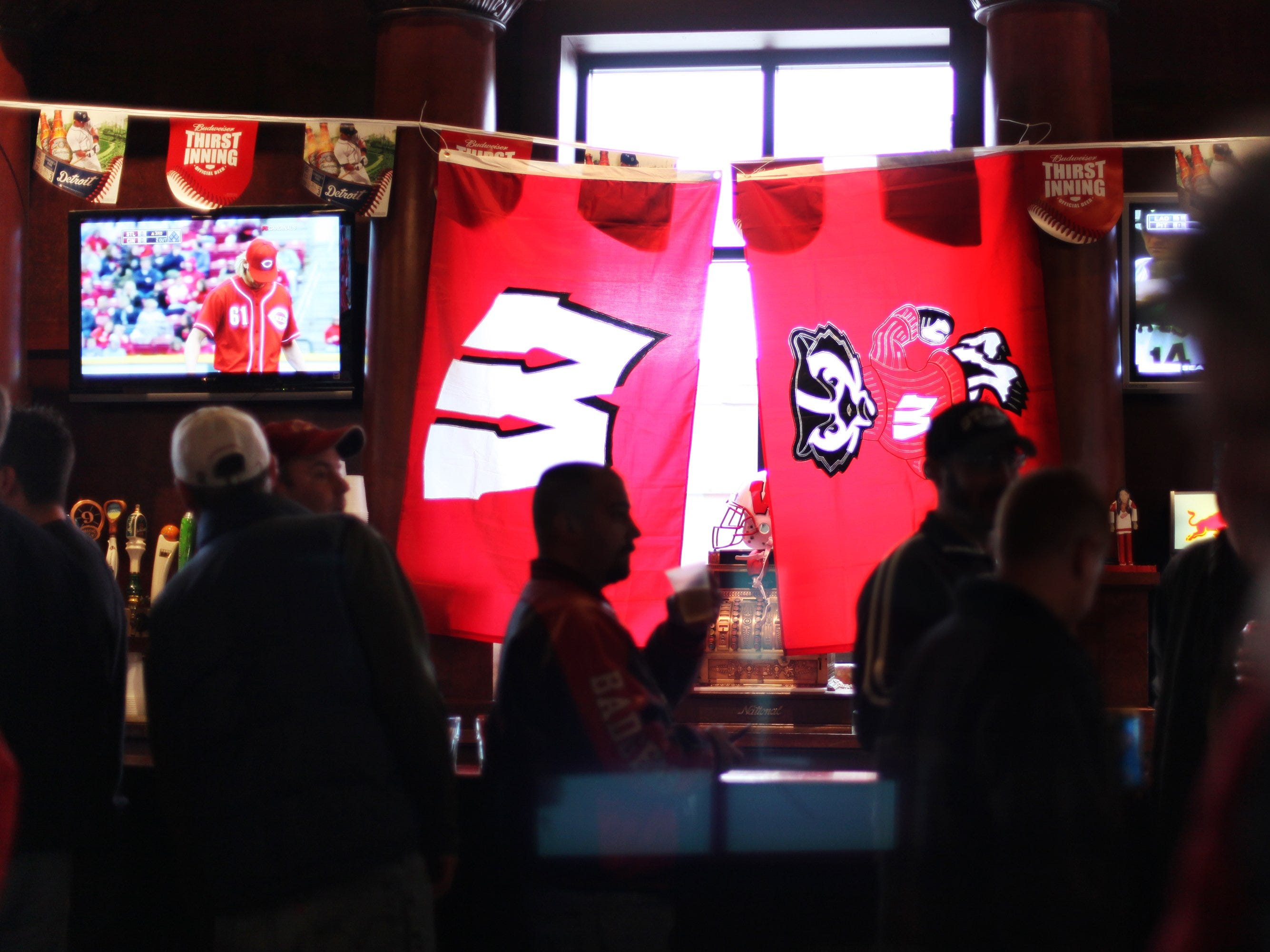 Cheli's Chili Bar in Detroit is the unofficial gathering place for Wisconsin Badger fans because Chris Chelios was on their winning team in 1983. Photo taken on April 8, 2010.