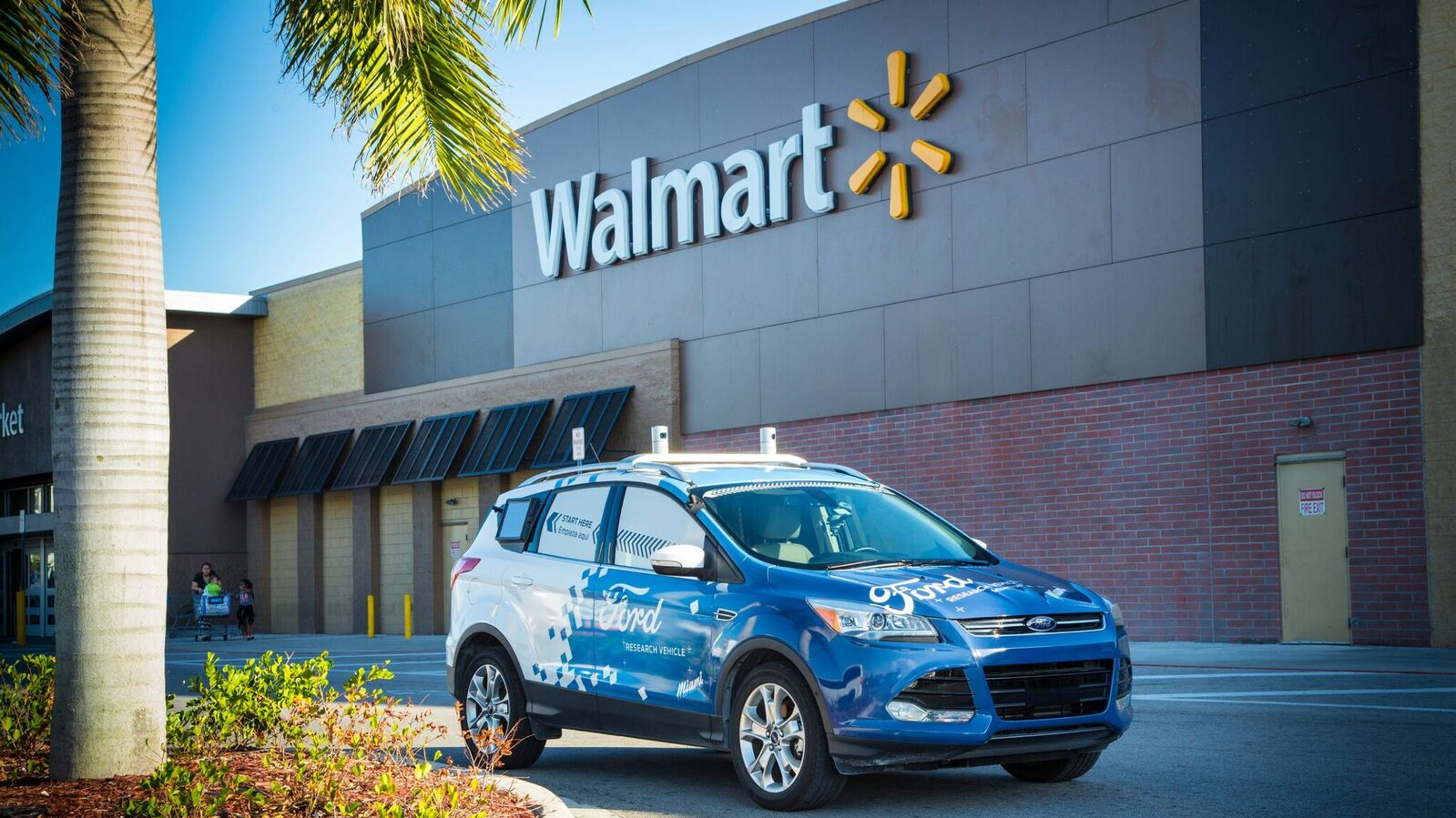 Walmart ford motor to test driverless delivery technology