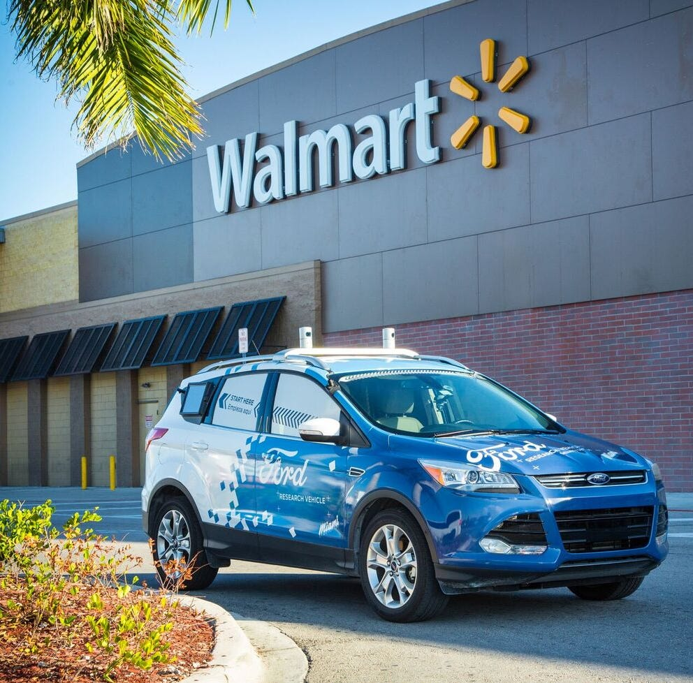 Ford partners with Walmart on a pilot project for home delivery