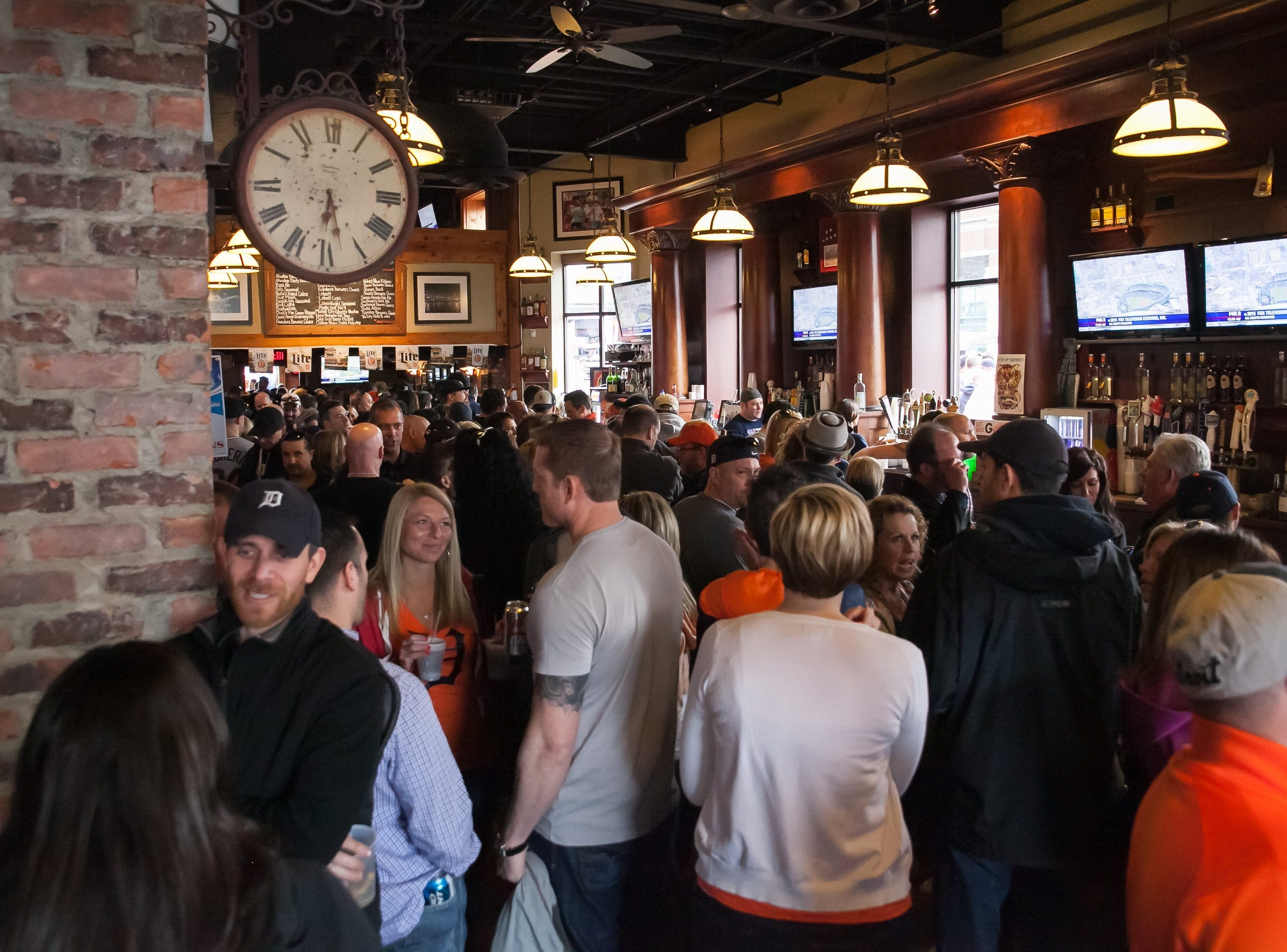 The first floor of Cheli's Chili Bar was full of Tigers fans moments before the first pitch during Opening Day festivities in downtown Detroit on April 06, 2015.