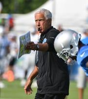 Lions defensive coordinator Paul Pasqualoni (pictured) had head coach Matt Patricia on his staff at Syracuse.