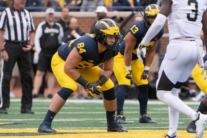 Tight end Sean McKeon was Michigan's third-leading receiver last season, but has become a valuable blocker this season in the Wolverines' offense.
