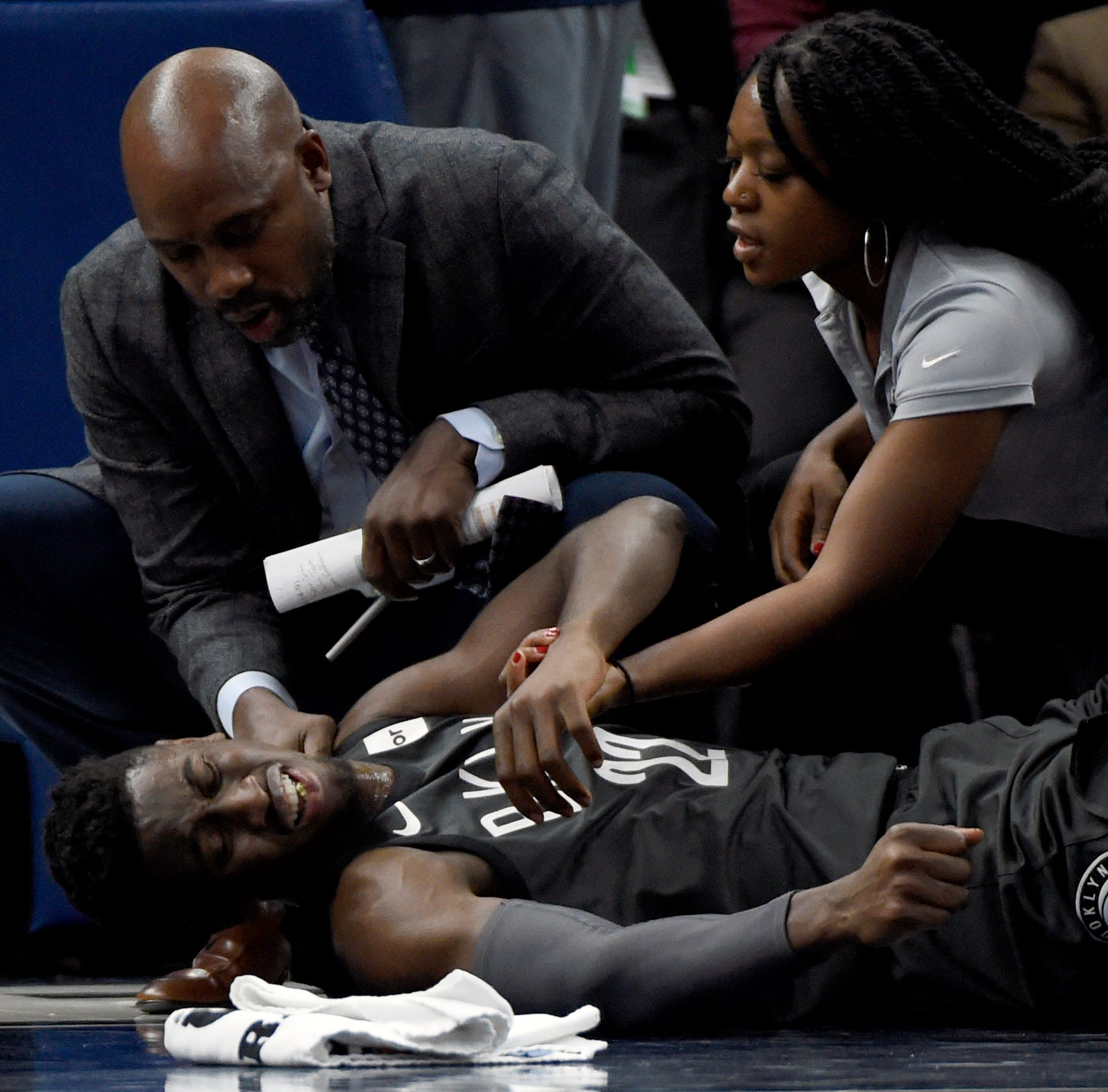 Nets' LeVert sustains severe right leg injury in loss to T-Wolves