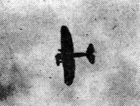 """Jimmy Doolittle flies his """"Vulture"""" in Elmira in 1927."""