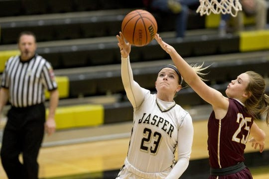 Jasper's Claire Knies was one of two Wildcats on the All-Big Eight Conference team last season.