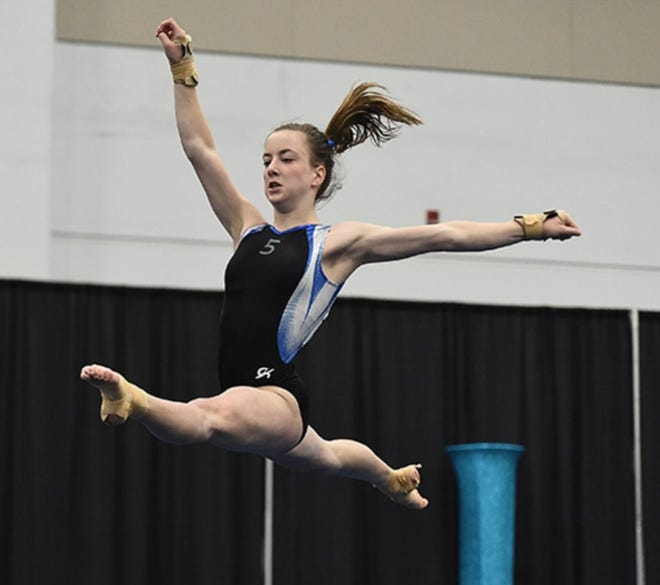 Kassidy Howell competes in the 2016 Eastern Nationals. The Castle senior signed with the University of Kentucky.