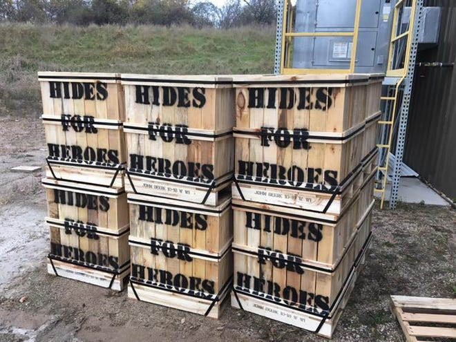 Hides for Heroes boxes can be found throughout Fond du Lac and Winnebago counties through January for hunters to contribute their hides. Donations benefit  the Wounded Warriors in Action Foundation, which organizes outdoor hunting and fishing excursions for Purple Heart recipients.