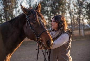 Chance the horse was rescued from a feed lot. Little did his new owner know, he had an unexpected lineage.