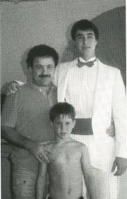 Eric Dawson, left, Robert Dawson, right and Jason Dawson, center. 1987