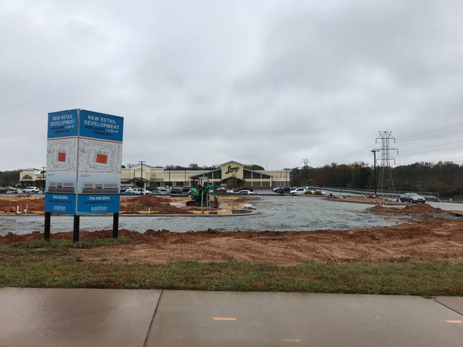 A new retail/office space is being built in front of Lowe's in Greer.
