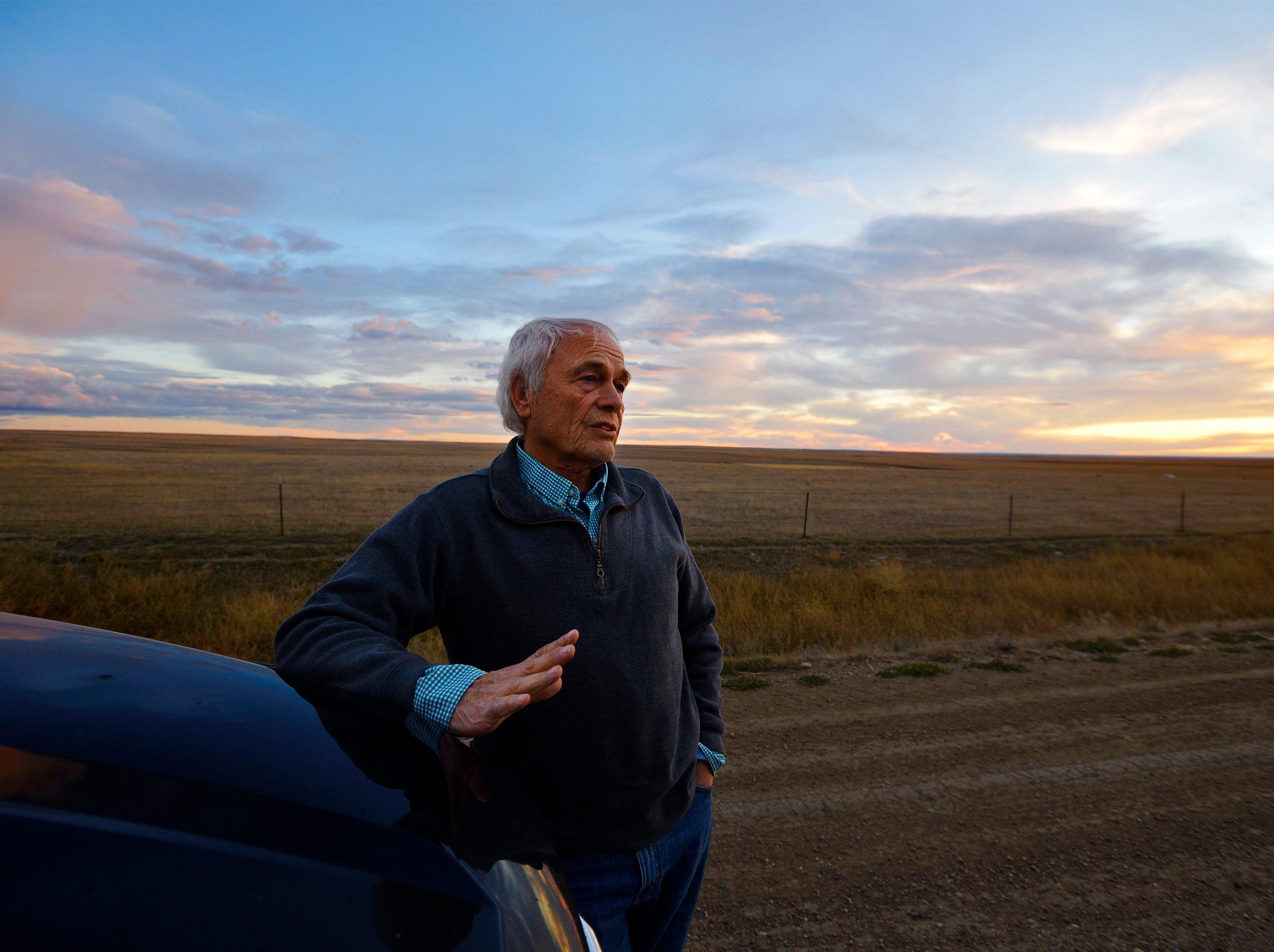 "Mike Hammond, who ranches two miles from the border with Canada, granted right of way accross his land for construction of the Keystone XL Pipeline.  ""I don't see any downside to it,"" he says of the project.  He already has a natural gas pipeline crossing his land."