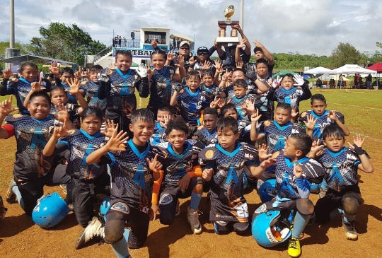 The Manha Division Angels secured their seventh straight title in the  Guam National Youth Football Federation with a 21-0 win over the Southern Cowboys.